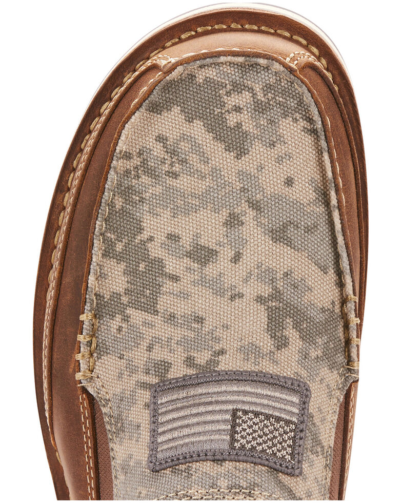 Ariat Men's Camo Patriot Cruiser Shoes - Moc Toe, Brown, hi-res