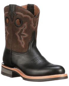 Lucchese Women's Ruth Western Boots - Round Toe, Black, hi-res