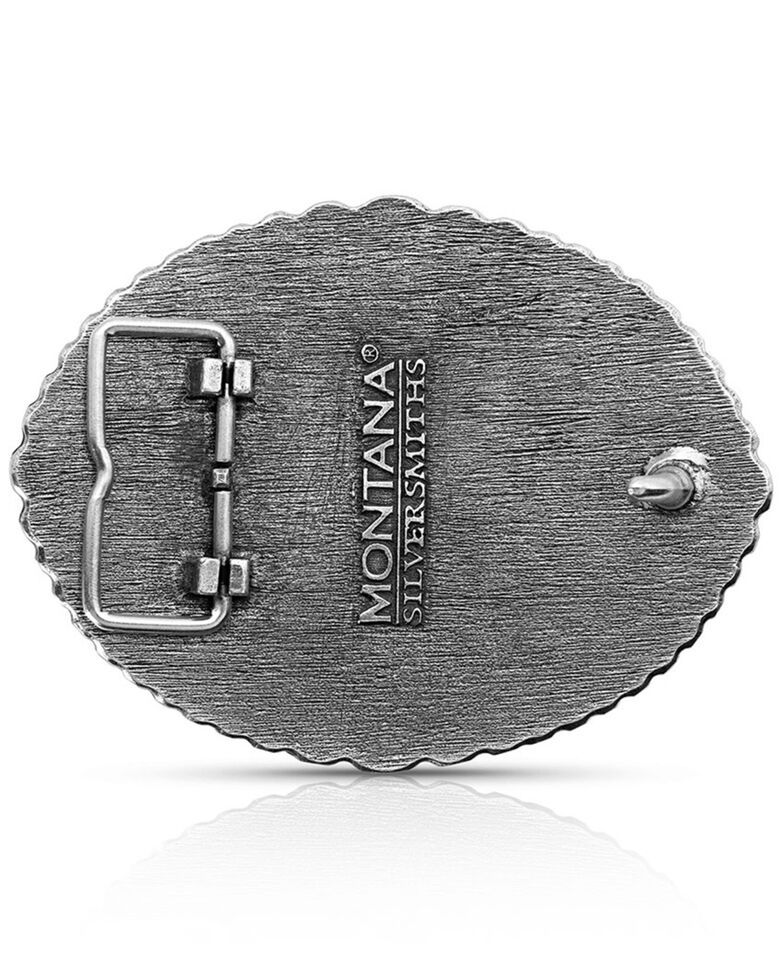 Montana Silversmiths Men's Dale Brisby Winnebago Rodeo Buckle, Silver, hi-res