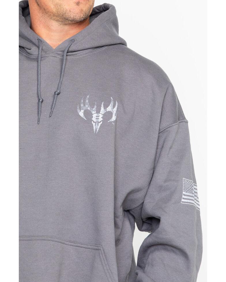 Buck Wear 2X Men's Colors Reload Graphic Print Hoodie , Charcoal, hi-res