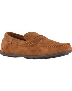 Lamo Men's Connor Suede Loafers - Moc Toe, Chestnut, hi-res