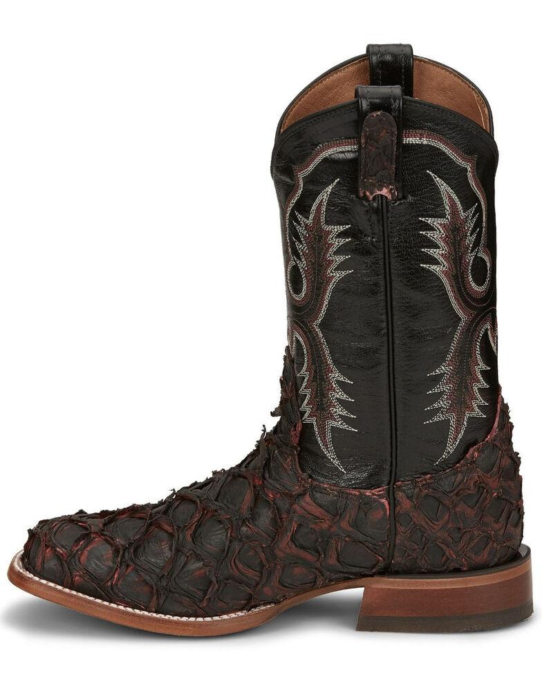 Tony Lama Men's Anchor Black Cherry Western Boots - Wide Square Toe, Burgundy, hi-res