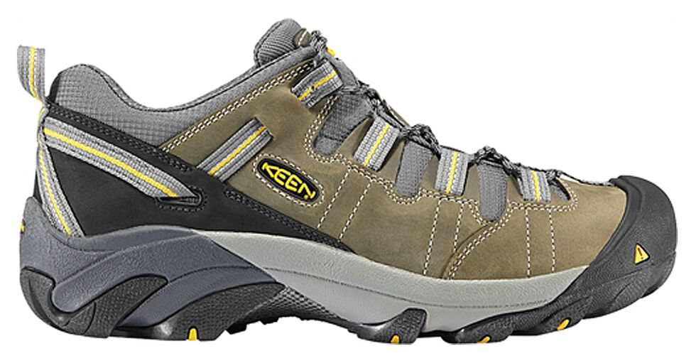 Keen Men's Detroit Low ESD Shoes, Green, hi-res