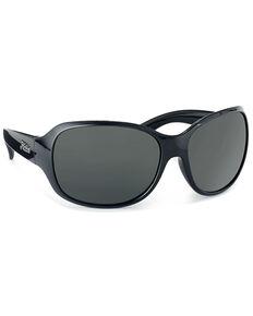 Hobie Women's Kaylee Shiny Black & Grey Polarized Sunglasses , Black, hi-res