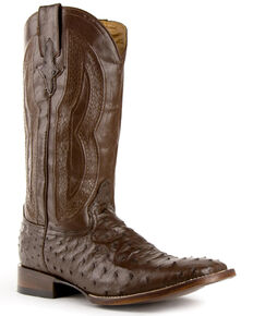 Ferrini Men's Chocolate Colt Western Boots - Wide Square Toe, Chocolate, hi-res