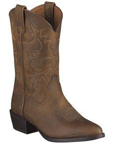 Ariat Boys' Heritage Western Boots, Brown, hi-res