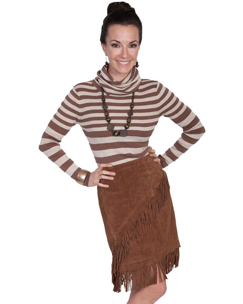 Scully Short Fringe Boar Suede Skirt, Cinnamon, hi-res