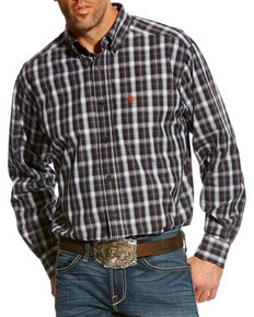 Ariat Men's Blue Calvelli Classic Fit Shirt , Multi, hi-res