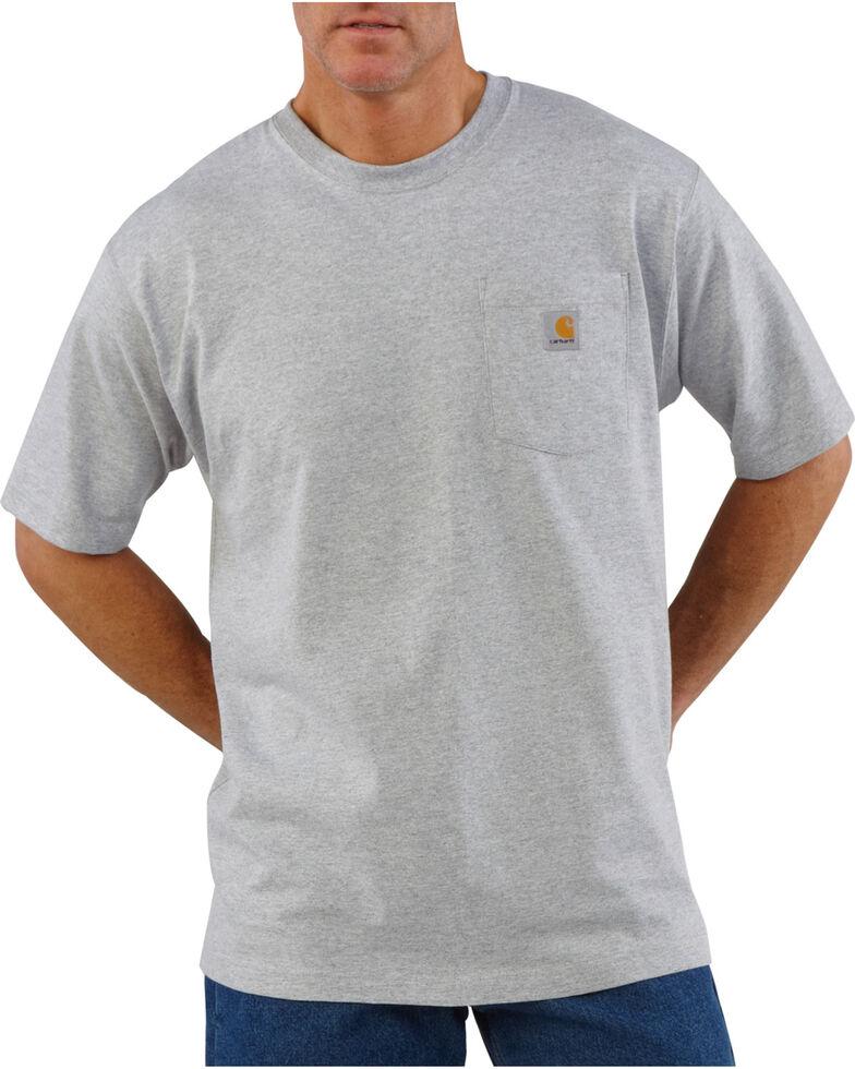 Carhartt Short Sleeve Pocket Work T-Shirt, Light Grey, hi-res