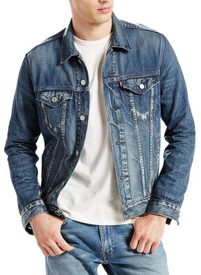 Levi's Men's Denim Trucker Jacket, Denim, hi-res