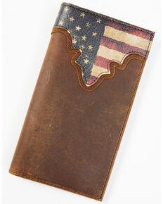 Cody James Men's Distressed Patriotic Checkbook Wallet, Red/white/blue, hi-res