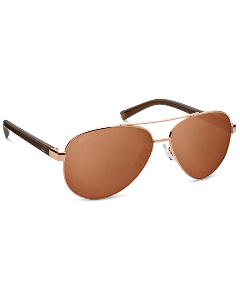 Hobie Broad Shiny Gold & Copper Gradient PC Polarized Sunglasses , Gold, hi-res