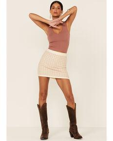 Sadie & Sage Women's Good Intentions Skirt , Tan, hi-res