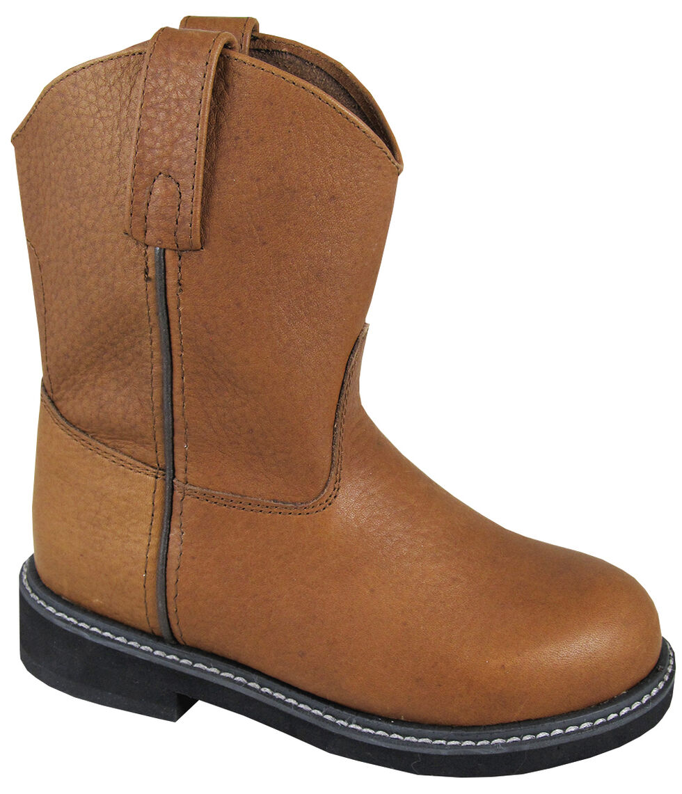 Smoky Mountain Youth Boys' Jackson Leather Wellington Western Boots - Round Toe, Brown, hi-res