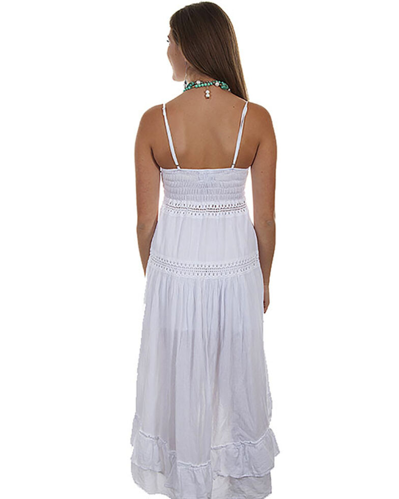 Cantina Collection by Scully Women's Spaghetti Strap Dress , White, hi-res