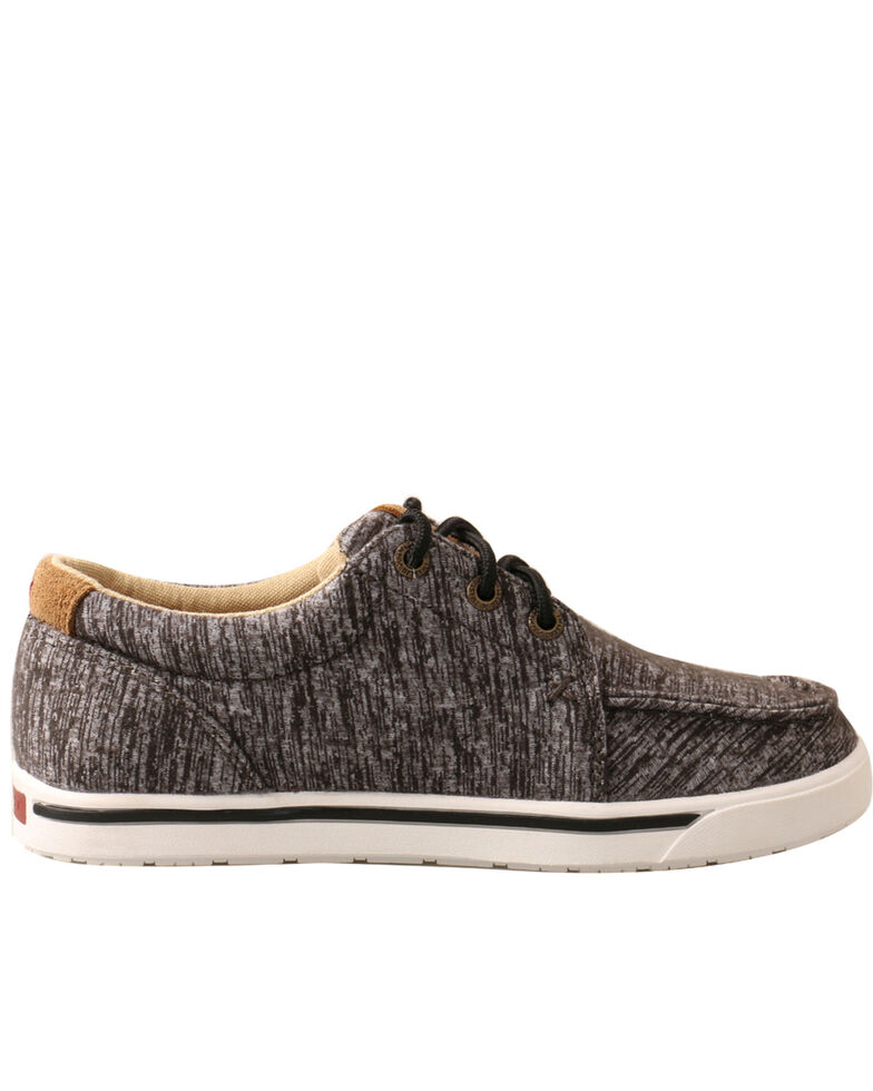 Twisted X Boys' Kicks Casual Shoes - Moc Toe, Dark Grey, hi-res