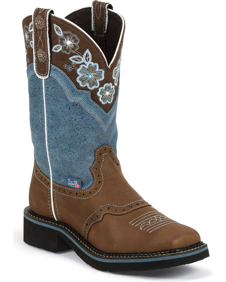 Justin Gypsy Women's Starlina Cowgirl Boots - Square Toe, Aged Bark, hi-res