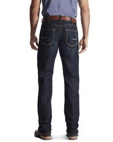 Ariat Men's M4 Rebar Bootcut Dark Wash Relaxed Work Jeans - Big , Indigo, hi-res