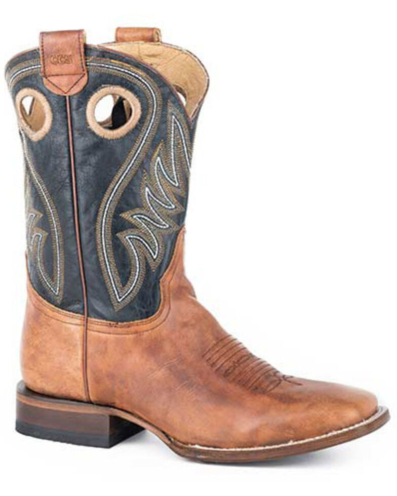 Roper Men's Tan CCS Western Boots - Square Toe, Tan, hi-res