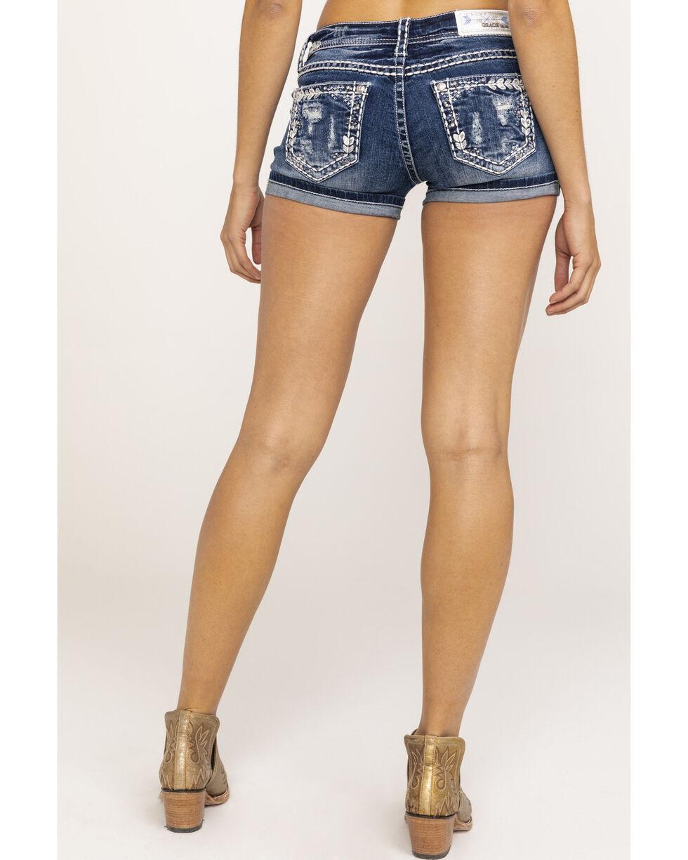 Grace in LA Women's Medium Bling Shorts, Blue, hi-res