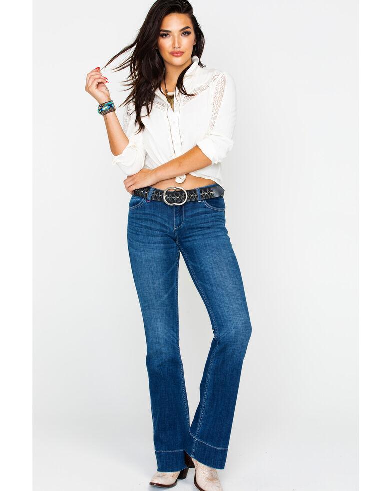 Idyllwind Women's Love Sick Denim Flare Jeans , Blue, hi-res