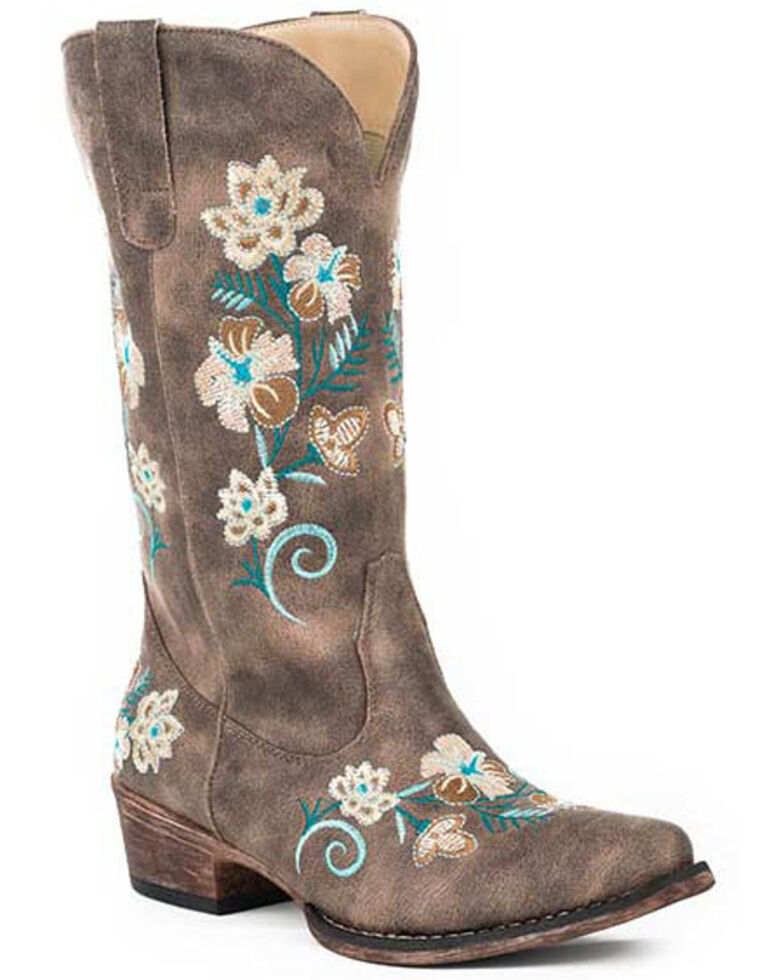 Roper Women's Vintage Brown Western Boots - Snip Toe, Brown, hi-res