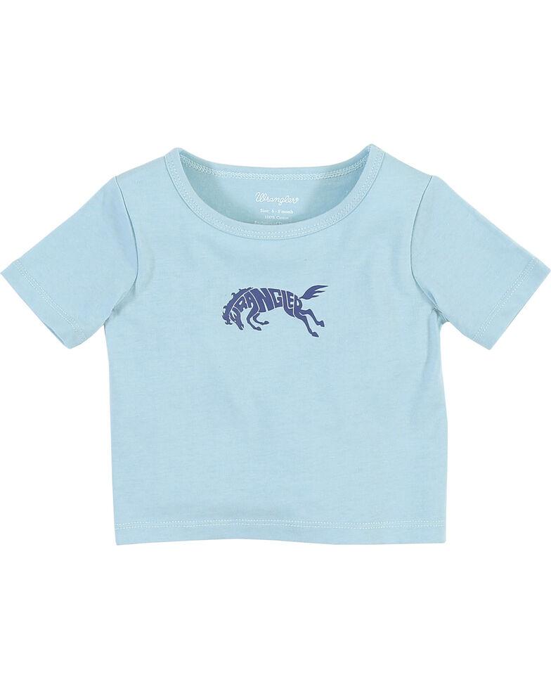 Wrangler Toddler Boys' Bronc Logo Tee, Turquoise, hi-res