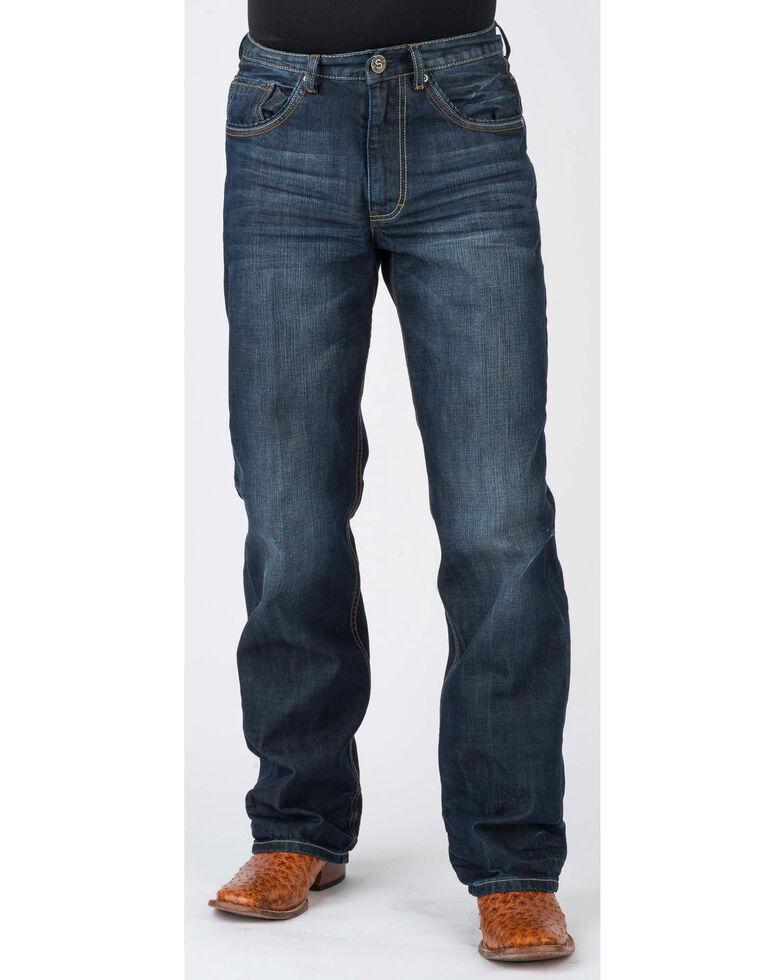 Stetson Men's Modern Fit Bootcut Jeans, Blue, hi-res