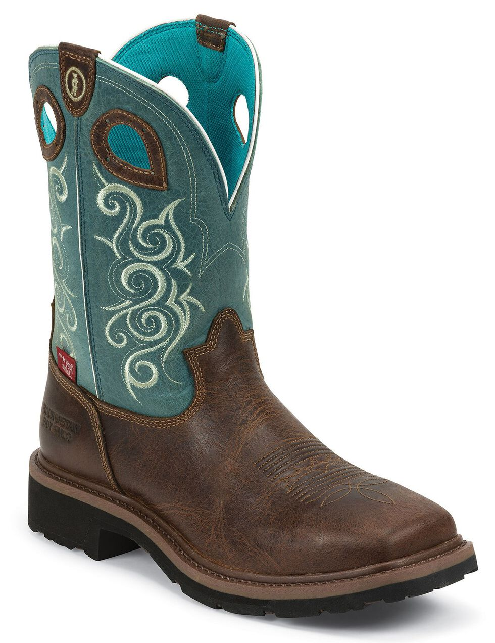Tony Lama Women's Gladewater 3R Work Boots - Composite Toe, Brown, hi-res