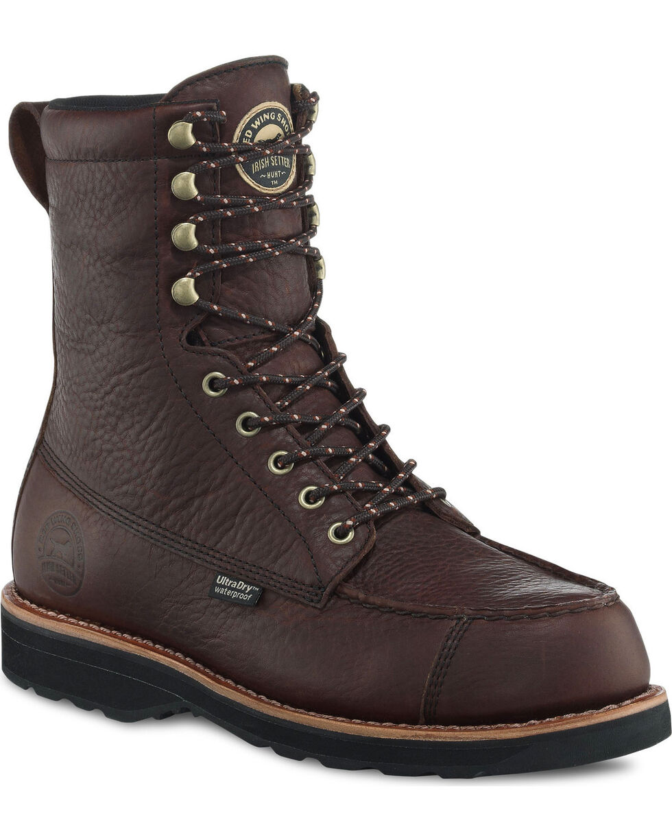 """Irish Setter by Red Wing Shoes Men's 9"""" Wingshooter UltraDry Work Boots , Brown, hi-res"""