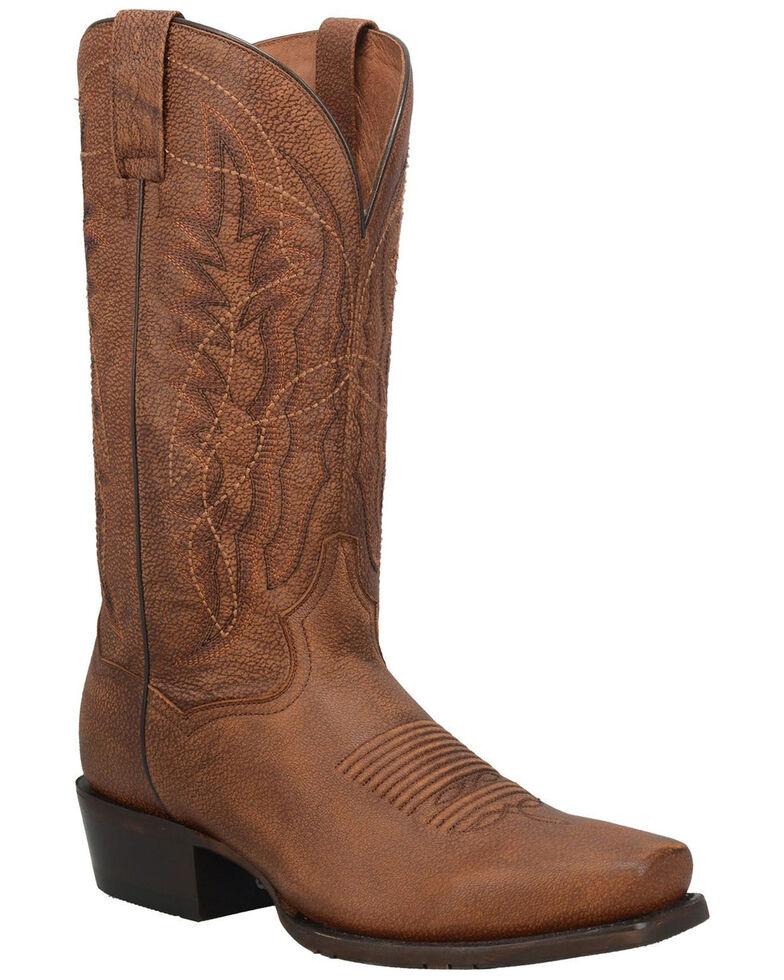 Dan Post Men's Hawthorne Western Boots - Narrow Square Toe, Brown, hi-res