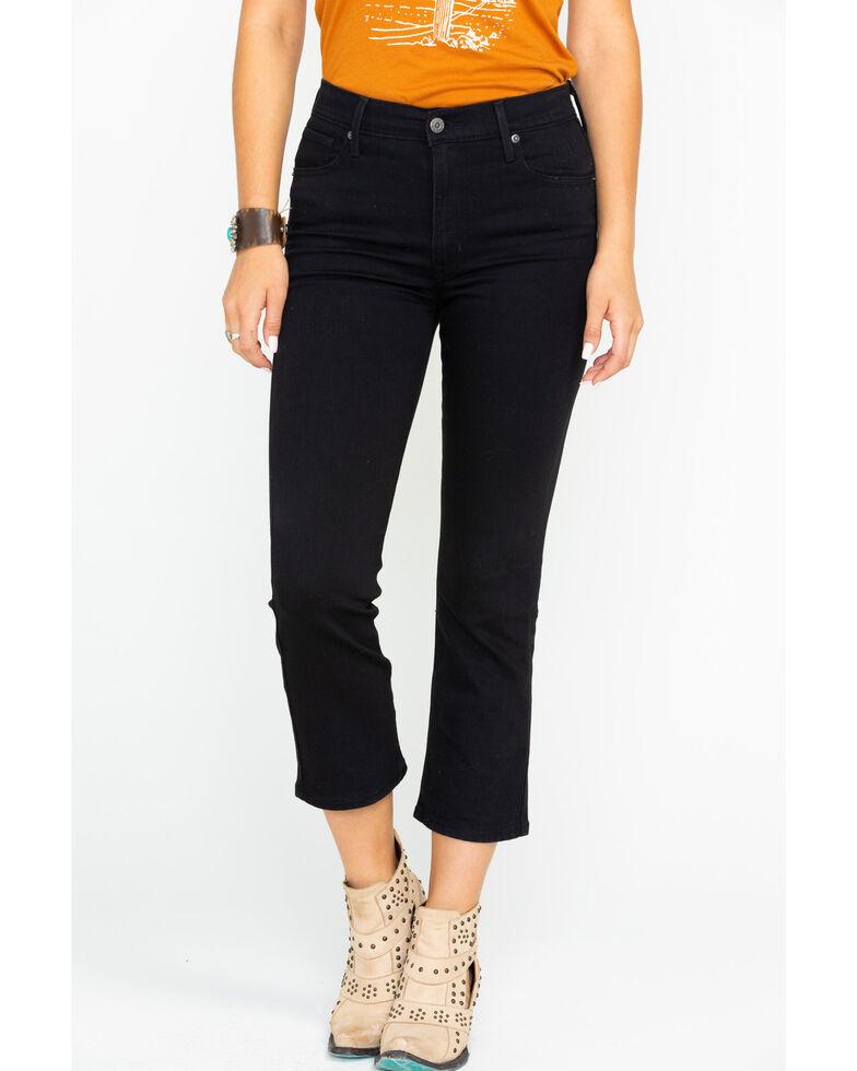 Levi's Women's High Rise Crop Flare Jeans, Black, hi-res
