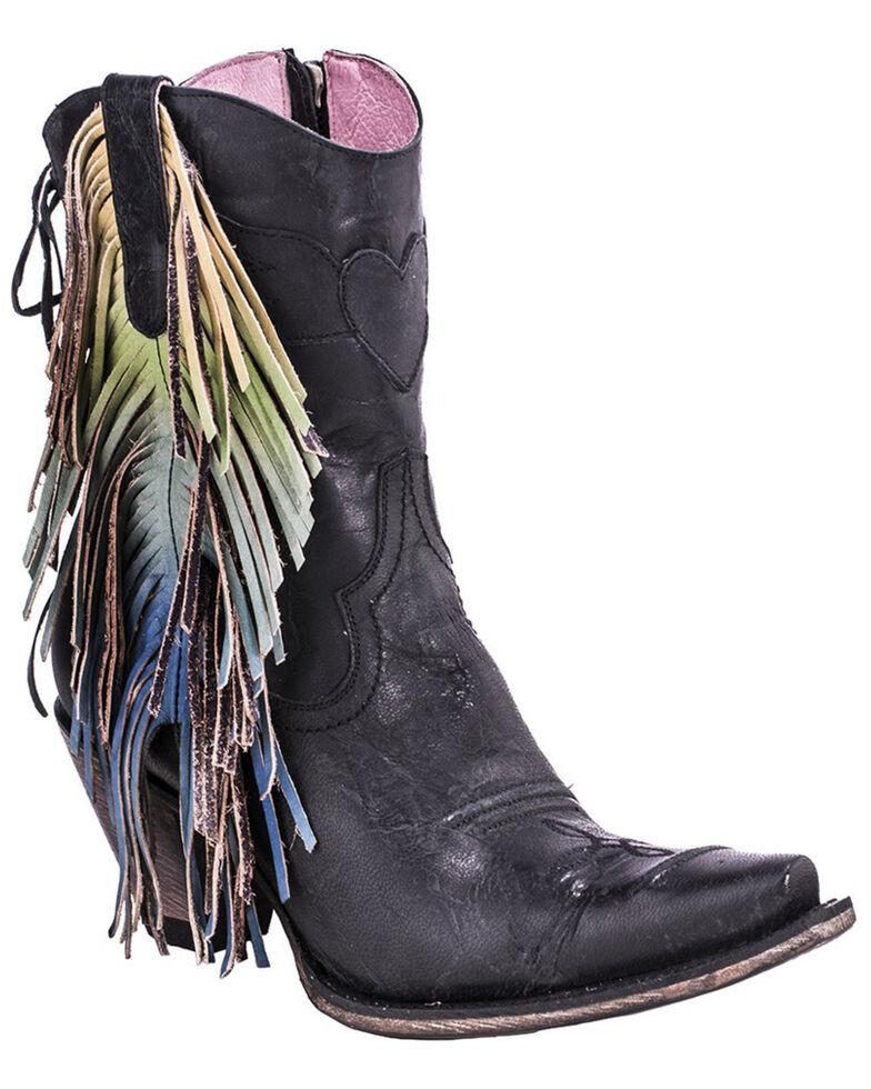 Junk Gypsy by Lane Cream Spirit Animal Boots - Snip Toe , Black, hi-res