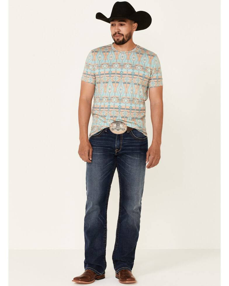 Dale Brisby Men's Aztec Print Short Sleeve T-Shirt , Multi, hi-res