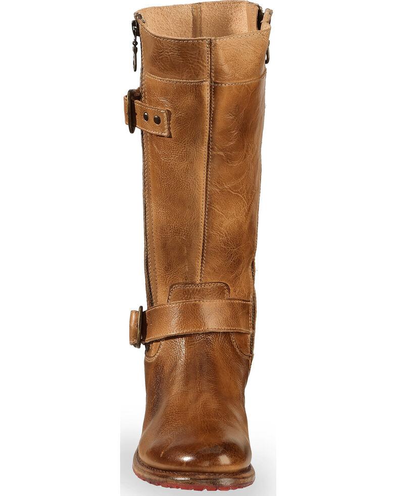Bed Stu Women's Tan Gogo Lug Strap Boots - Round Toe , Tan, hi-res