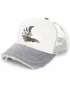 Cody James Men's Grey Eagle Flag Logo Cap , Grey, hi-res