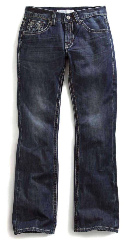 Tin Haul Men's Jagger Fit Multi Stitch Bootcut Jeans, Denim, hi-res