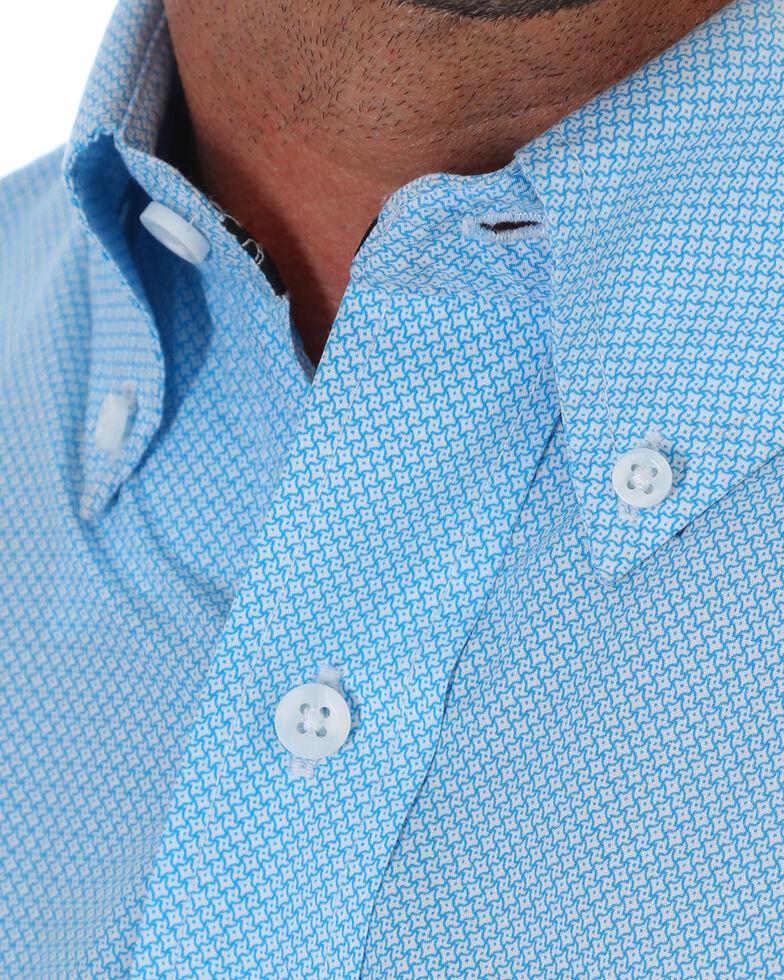 George Strait by Wrangler Men's Blue Button Long Sleeve Western Shirt , Blue, hi-res