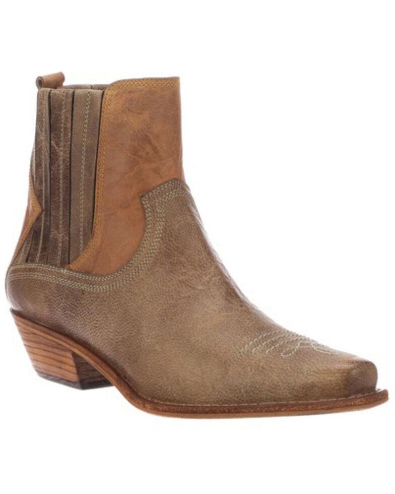 Lucchese Women's Joanie Western Booties - Snip Toe, Tan, hi-res