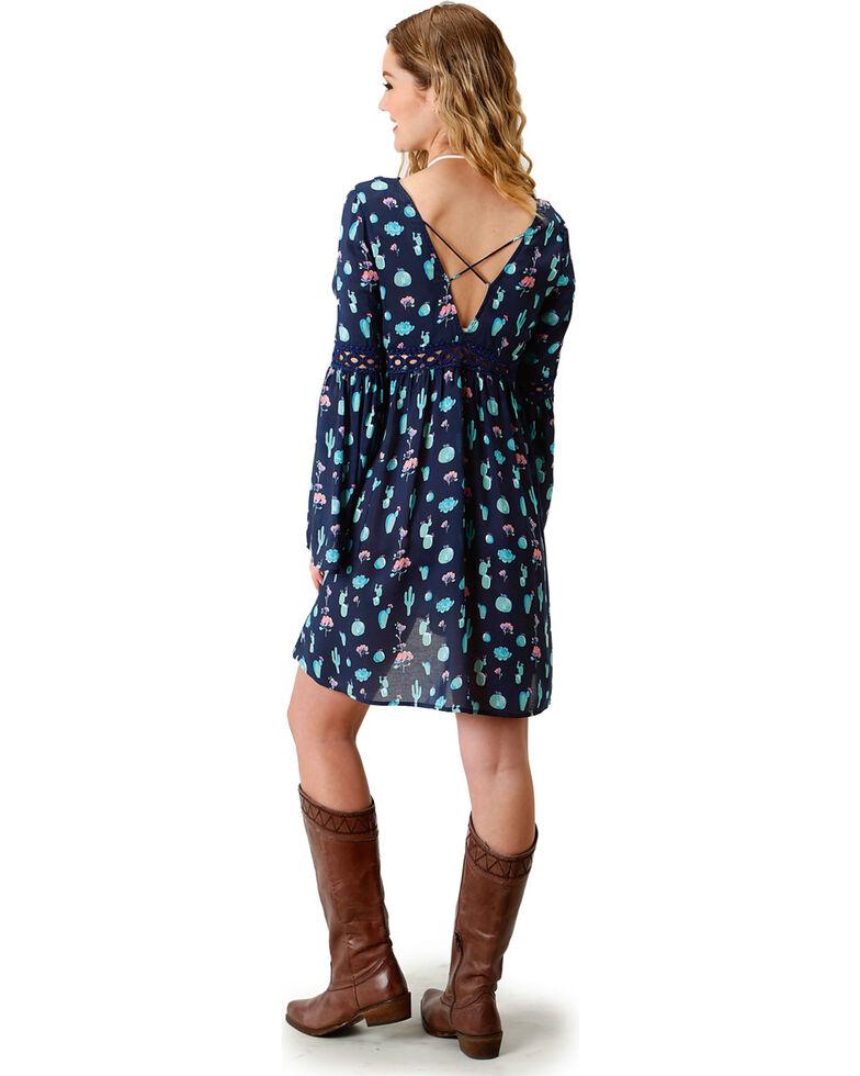 Roper Women's Navy Cactus Print Dress, Navy, hi-res
