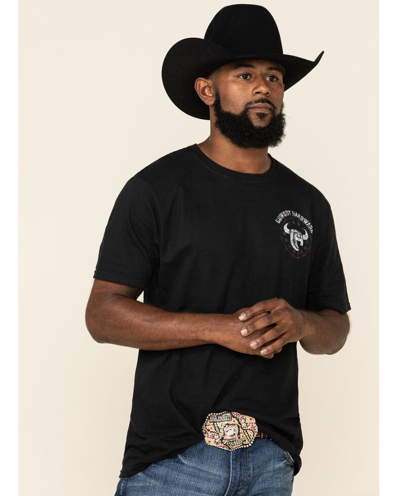 Cowboy Hardware Men's Country Brave Graphic T-Shirt , Black, hi-res