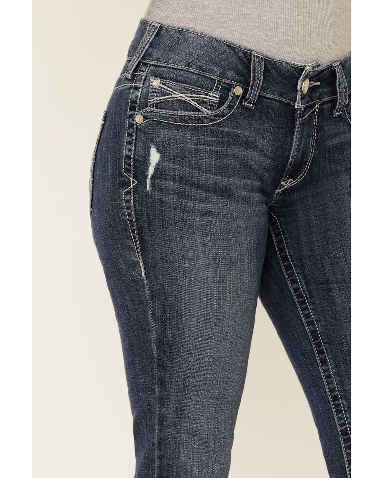 Ariat Women's Gianna Straight Leg Jeans, Blue, hi-res