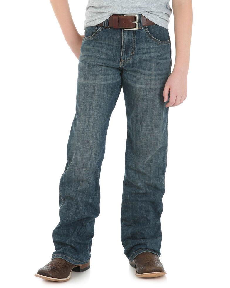 Wrangler Retro Boys' Falls City Relaxed Boot Cut Jeans, Blue, hi-res