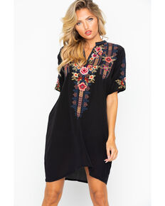 Johnny Was Women s Aaliah Easy Embroidered Short Sleeve Dress 0bd8985d3