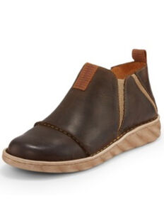 Tony Lama Men's Pancho Bark Shoes - Round Toe, Brown, hi-res