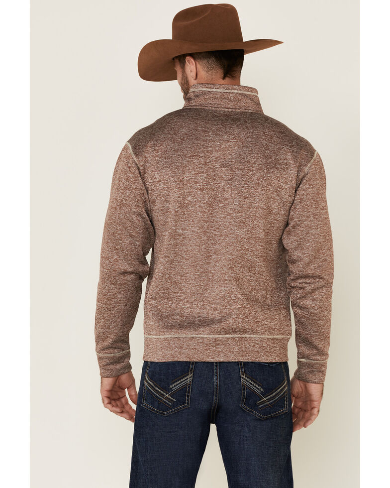 Cowboy Hardware Men's Brown Microfleece Zip-Up Jacket , Brown, hi-res