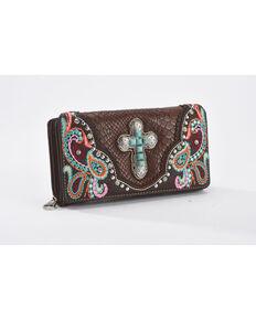 Shyanne Women's Multicolor Embellished Cross Wallet, Multi, hi-res