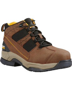Ariat Men's Contender Work Shoes - Steel Toe, Brown, hi-res