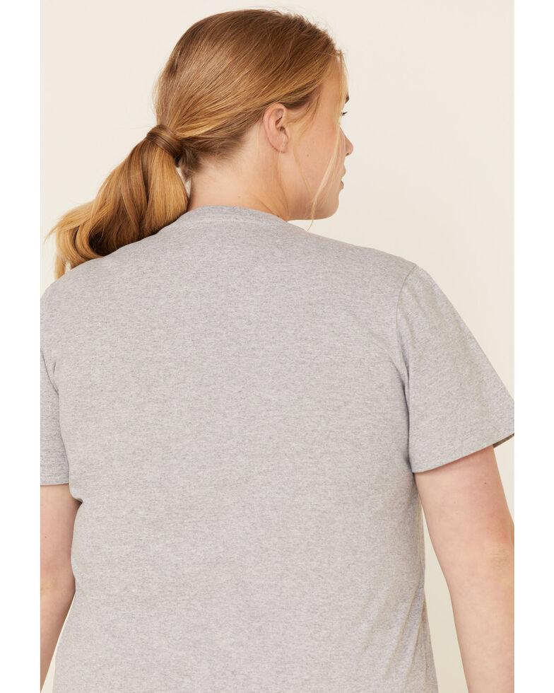 Carhartt Women's Chest Pocket Sleeve Work T-Shirt - Plus, Grey, hi-res
