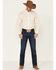 Cinch Men's Yellow Stretch Geo Print Long Sleeve Western Shirt , Yellow, hi-res